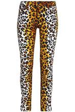 Love Moschino | Love Moschino Woman Leopard-print Cotton-blend Velvet Slim-leg Pants Animal Print Size 26 | Clouty