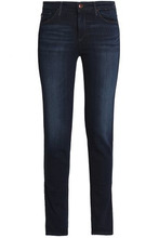 AG Jeans | Ag Jeans Woman Faded Mid-rise Skinny Jeans Dark Denim Size 25 | Clouty