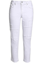 Derek Lam 10 Crosby | Derek Lam 10 Crosby Woman Cropped Patchwork Mid-rise Tapered Jeans White Size 27 | Clouty