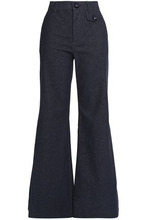 See by Chloé | See By Chloe Woman Cotton-blend Twill Flared Pants Indigo Size 26 | Clouty