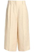 JOSEPH | Joseph Woman Pleated Linen-twill Culottes Beige Size 38 | Clouty