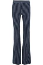 Derek Lam 10 Crosby | Derek Lam 10 Crosby Woman Striped Stretch-cotton Flared Pants Midnight Blue Size 10 | Clouty