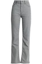 ALEXACHUNG | Alexa Chung Woman Striped Mid-rise Straight-leg Jeans Navy Size 30 | Clouty