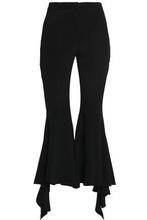 Goen.J | Goen.j Woman Ruffled Silk-blend Kick-flare Pants Black Size M | Clouty