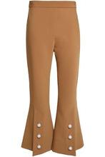 Ellery | Ellery Woman Faux Pearl-embellished Woven Flared Pants Camel Size 12 | Clouty