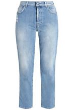 7 For All Mankind | 7 For All Mankind Woman Mid-rise Skinny Jeans Light Denim Size 24 | Clouty
