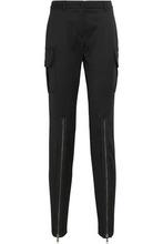 MOSCHINO | Moschino Woman Wool-blend Twill Skinny Pants Black Size 44 | Clouty