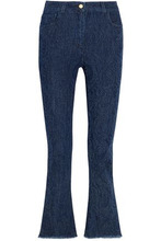 Etro | Etro Woman Distressed High-rise Kick-flare Jeans Dark Denim Size 31 | Clouty