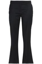 Osman | Osman Woman Wool-blend Twill Kick-flare Pants Black Size 10 | Clouty