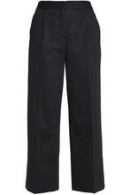 Boutique Moschino | Boutique Moschino Woman Cotton-blend Straight-leg Pants Black Size 46 | Clouty
