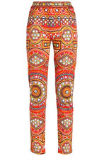 MOSCHINO | Moschino Woman Printed Cotton Skinny Pants Multicolor Size 38 | Clouty