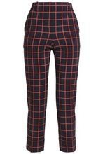 Theory | Theory Woman Cropped Stretch-wool Tapered Pants Burgundy Size 10 | Clouty