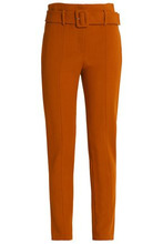 Theory | Theory Woman Belted Crepe Tapered Pants Camel Size 4 | Clouty