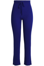 MARQUES'ALMEIDA | Marques' Almeida Woman Ribbed-knit Straight-leg Pants Bright Blue Size XS | Clouty