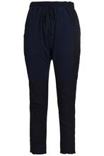 Haider Ackermann   Haider Ackermann Woman Patchwork Cropped Cotton-twill Slim-leg Pants Indigo Size M   Clouty