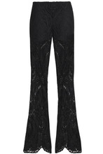 Anna Sui | Anna Sui Woman Guipure Lace Flared Pants Black Size XS | Clouty