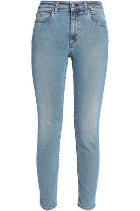 Acne Studios | Acne Studios Woman Faded Mid-rise Skinny Jeans Light Denim | Clouty