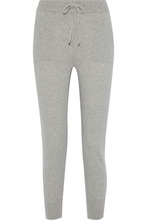 Iris & Ink | Iris & Ink Woman Albie Melange Cashmere And Wool-blend Track Pants Stone Size M | Clouty