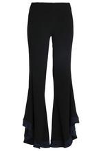 GALVAN London | Galvan London Woman Two-tone Crepe Flared Pants Black Size 38 | Clouty