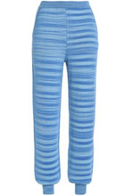 Missoni | Missoni Woman Jacquard-knit Cashmere And Silk-blend Track Pants Light Blue Size 40 | Clouty