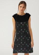 Emporio Armani | Трикотажное платье с геометрическим мотивом из стразов | Clouty