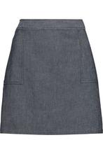 A.P.C. | A.p.c. Woman Eddie Cotton-blend Chambray Mini Skirt Mid Denim Size 42 | Clouty