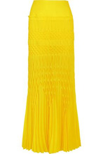 Haider Ackermann | Haider Ackermann Woman Smocked Crepe Maxi Skirt Bright Yellow Size 38 | Clouty