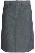 A.P.C. | A.p.c. Woman Cotton And Linen-blend Skirt Dark Denim Size 34 | Clouty