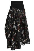 Roksanda | Roksanda Woman Asymmetric Fil Coupe Organza Maxi Skirt Black Size 10 | Clouty