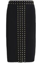 Michael Michael Kors | Michael Michael Kors Woman Studded Stretch-jersey Skirt Black Size XL | Clouty