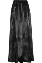 Brunello Cucinelli | Brunello Cucinelli Woman Pleated Organza Maxi Skirt Black Size 42 | Clouty