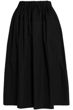 SIMONE ROCHA   Simone Rocha Woman Cotton-poplin Midi Skirt Black Size 12   Clouty
