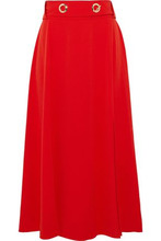 Derek Lam 10 Crosby | Derek Lam 10 Crosby Woman Belted Crepe Midi Skirt Tomato Red Size 2 | Clouty