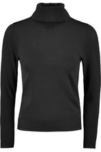 Totême | Toteme Woman Stretch-knit Turtleneck Top Black Size L | Clouty