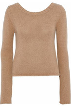 Derek Lam 10 Crosby | Derek Lam 10 Crosby Woman Cable-knit Wool And Cashmere-blend Sweater Camel Size L | Clouty