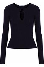 Derek Lam 10 Crosby | Derek Lam 10 Crosby Woman Ribbed-knit Wool Sweater Black Size M | Clouty