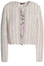 Theory | Theory Woman Cotton-blend Boucle-tweed Jacket Ivory Size M | Clouty