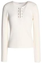 Derek Lam 10 Crosby | Derek Lam 10 Crosby Woman Ribbed-knit Wool Sweater Ivory Size XL | Clouty
