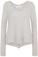 Derek Lam 10 Crosby | Derek Lam 10 Crosby Woman Draped Melange Wool-blend Sweater Light Gray Size M | Clouty