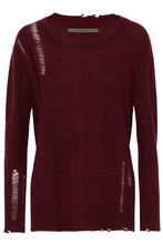 Enza Costa | Enza Costa Woman Distressed Wool And Cashmere-blend Sweater Brick Size XS | Clouty