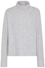 Derek Lam 10 Crosby | Derek Lam 10 Crosby Woman Marled Ribbed Wool-blend Turtleneck Sweater Light Gray Size L | Clouty