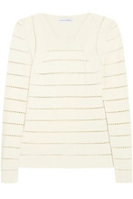 NARCISO RODRIGUEZ | Narciso Rodriguez Woman Pointelle-knit Sweater Ivory Size 40 | Clouty