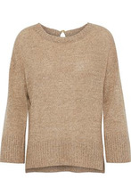 Derek Lam 10 Crosby | Derek Lam 10 Crosby Woman Tie-back Linen And Cashmere-blend Sweater Camel Size S | Clouty