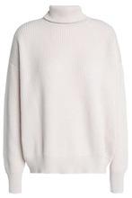 Brunello Cucinelli | Brunello Cucinelli Woman Ribbed Cashmere Turtleneck Sweater Off-white Size L | Clouty