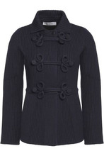 VALENTINO | Valentino Woman Wool-blend Jacket Midnight Blue Size S | Clouty