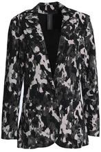 Norma Kamali   Norma Kamali Woman Printed Cady Jacket Black Size M   Clouty