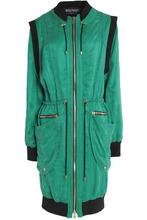 BALMAIN | Balmain Woman Two-tone Twill Jacket Green Size 36 | Clouty