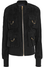 BALMAIN | Balmain Woman Suede Jacket Black Size 38 | Clouty