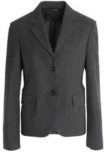 JIL SANDER | Jil Sander Woman Wool Blazer Dark Gray Size 40 | Clouty