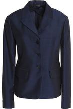 JIL SANDER | Jil Sander Woman Mohair, Wool And Silk-blend Blazer Navy Size 38 | Clouty
